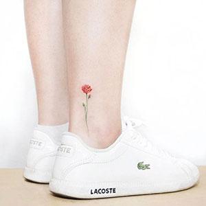 تاتو گل برای مچ پا